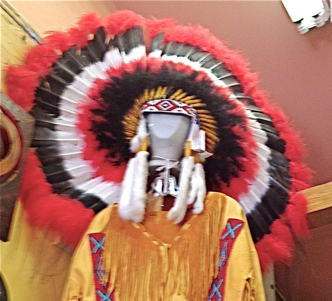 Native American Head Dress Native Made Navajo Native