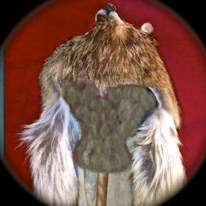 Medicine Man Headdress - Coyote Skin - $550